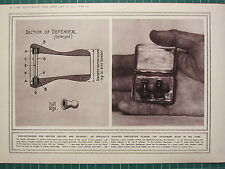 1915 WWI WW1 PRINT ~ EAR-DEFENDERS FOR BRITISH SAILORS AGAINST BUG GUN NOISES