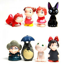 My Neighbor Totoro Ponyo on the Cliff 8pc set mini cute PVC Figures toy doll