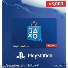 PSN Network Card 3000 YENS PS Vita PLAYSTATION SONY JAPANESE NEW JAPANZON PS 3 4