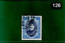 Negro 126 Egipto 1924 Rey Fuad £ 1 valor superior muy fino utilizado VFU Scott .103 Gato $27+