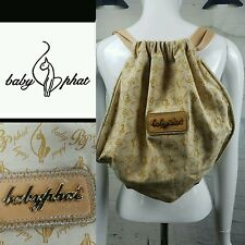 AUTHENTIC Baby Phat Gold Backpack Bag Sac Purse with Rhinestones RARE