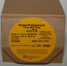 Long roll of 70mm lond 30.5m wide Kodak Professional Tri-X 400TX B&W film