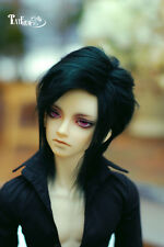 Black Mohair Wig BJD Doll Wig 6-7'' 7-8'' 8-9''  Free Style  Uncle HH5