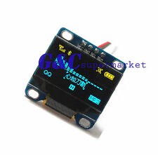"Yellow Blue 0.96"" IIC I2C  128X64 OLED LCD Display Module  Arduino/STM32 M45"