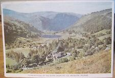 Irish Postcard GLENDALOUGH Seven Churches Wicklow Ireland PC DeLuxe Cahill 4x6