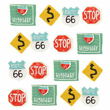 Road Signs Repeats Route 66 US Highway Road Trip America Jolee's 3D Stickers