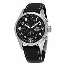 Oris Big Crown Pro Pilot Black Strap Chronograph Men's Watch 77476994134LS19