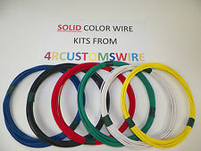 18 GXL HIGH TEMP AUTOMOTIVE WIRE 6 SOLID COLORS 25 FEET EACH 150 FEET TOTAL
