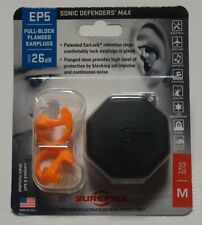SureFire Ear Plugs Sonic Defenders Max MEDIUM Size With Case Orange EP5-OR-MPR