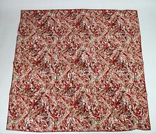 New Bottega Veneta Large Red White Black Swirl-Patterned Scarf 337765 6272