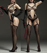 7104 Babydoll Fishnet Lingerie Underwear BODYSTOCKING SUSPENDER Ladies Catsuit