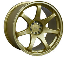 "XXR 551 17"" x 8.25J ET36 5x100 5x114.3 GOLD WIDE RIMS ALLOYS WHEELS Z2911"