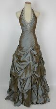 Paparazzi Mori Lee Copper $500 Size 6 Halter Ball Long Prom Formal Gown Cruise