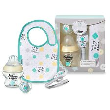 Tommee Tippee Closer To Nature Baby Boy/Girl Bottle Pacifier Bib Gift Set 0-6M