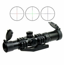 Airsoft 1.5-4X30 Tactical Rifle Scope w/ Tri-Illuminated Mil Dot Recticle & PEPR