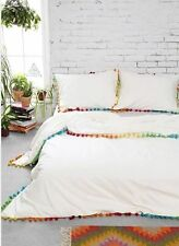 New Urban Outfitters Magical Thinking Pom-Fringe Duvet Cover White Twin XL 66x90