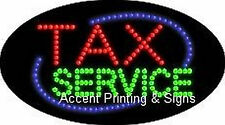 TAX SERVICE Flashing & Animated Real LED SIGN
