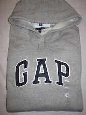 Mens GAP Gray Logo Hoodie Long Sleeve Sweatshirt M Medium NWOT