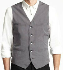 NEW Kenneth Cole NY Men's Gray Cotton 4-Pocket Pinstriped Vest, nwt, Small, $80