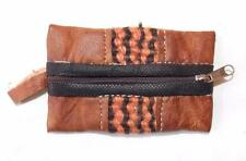 NEW HAND MADE FAIR TRADE HIPPY ETHNIC BOHO LEATHER PURSE / POUCH MOROCCO