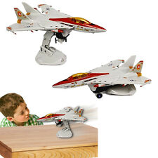 Dazzling Toys Bump & Go Electric Action F16 Military Aircraft Kids Jet Airplane