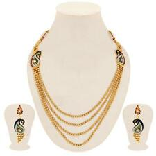 Sukkhi Wavy Peacock Gold Plated 4 String Necklace Sets(2162NGLDPV3250)