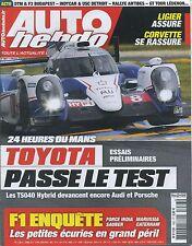 AUTO HEBDO n°1963 04/06/2014 Essais préliminaires 24h du MANS INDY DETROIT
