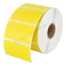 6 Rolls, 6000 Labels HouseLabels 2.25x1.25 Thermal Zebra Eltron YELLOW Labels
