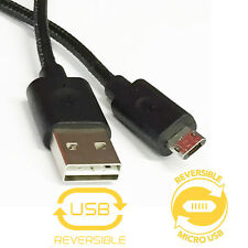 Double-Sided Reversible Micro USB to Reversible USB 2.0 Sync/Charging Cable Cord