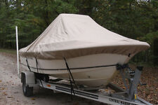 "NEW VORTEX TAN/BEIGE 17'6"" CENTER CONSOLE BOAT COVER, FOR UP TO 54"" TALL CONSOLE"