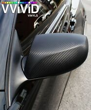 VViViD8 matte carbon fiber black 5 x 100ft Vinyl Roll wrap 3mil car 3d dry flat