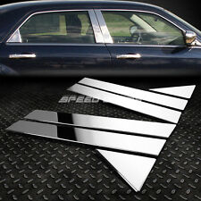 STAINLESS STEEL CHROME DOOR PILLAR POST TRIM COVER FOR 05-10 300/300C SRT/MAGNUM