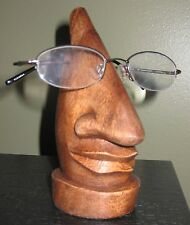 MS Eyeglass Sunglass Holder for One Pair Hand-carved Wood Fair Trade Bali