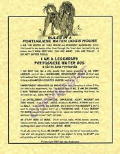 Rules In A Portuguese Water Dog's House