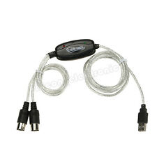 New USB MIDI Cable Converter PC to Music Keyboard for Windows vista win7