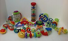 Infant RATTLES TOYS BRIGHT COLORED DEVELOPMENTAL LOT of 15