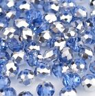 NEW Jewelry Faceted 100 pcs Silver Blue #5040 3x4mm Roundelle Crystal Beads !!!