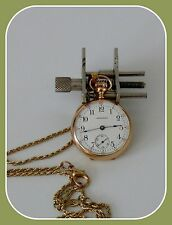 ANTIQUE WATCH WALTHAM 1904 POCKET/PENDANT FOR LADIES 14K SOLID GOLD HIGH GRADE
