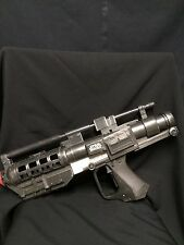 2005 HASBRO Black Star Wars Stormtrooper Blaster Gun Shoots Silly String .