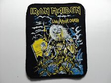 iron maiden live after death  printed patch