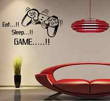 Gamer Quote Wall Sticker Game Controller Boys Bedroom Removable Vinyl Decal