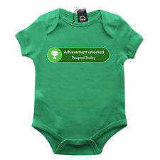 Achievement Unlocked Pooped Today Gamer Xbox Babygrow Gift Baby Grow Newborn 536