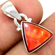 Genuine Canadian Ammolite  925 Sterling Silver Pendant Jewelry SP209300