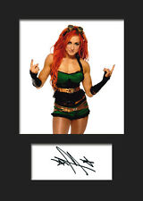 BECKY LYNCH #1 (WWE) Signed (Reprint) Photo A5 Mounted Print - FREE DELIVERY