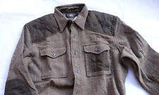 Ralph Lauren RRL Double Rl Yakima WORK SPORT WOOL SHIRT-JACKET Taglia XL