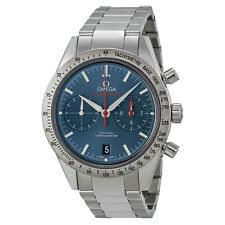 Omega Speedmaster Chronograph Blue Dial Stainless Steel Mens Watch