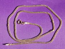 14K SOLID YELLOW GOLD CUBAN LINK WOMEN/ MEN'S NECKLACE CHAIN 18'