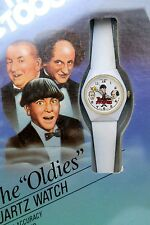 "MIB 3 THREE STOOGES MOE,LARRY,CURLY"" Oldies ""BRADLEY ANIMATED HANDS QUARTZ WATCH"