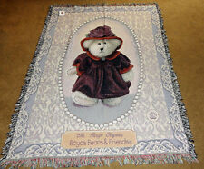 Boyds Bears Ms Rouge Chapeau Tapestry Afghan Throw