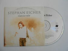 STEPHAN EICHER : RIEN A VOIR ( 2 VERSIONS ) [ CD SINGLE ] ~ PORT GRATUIT